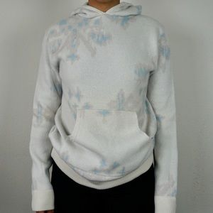 Baja East Abstract White Colored Snowflake Sweater